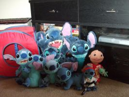 My Stitch Plush Collection by Itachislilgirl