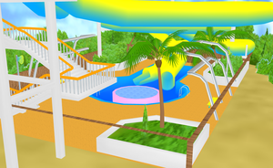 MMD Waterpark stage by amiamy111