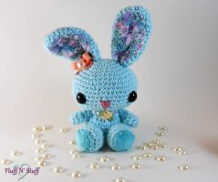 Victorian Spring Time Amigurumi Bunny by SailorMiniMuffin