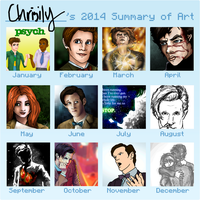 2014 Summary of Art by Chrisily