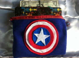 Captain America Felt Bag by AiwenStarr