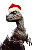 Xmas Raptor by Mystra-Inc