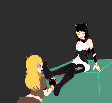 Yang + Blake Tickling by uh-stuff