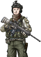 Nickls the Soldier by blue-hugo