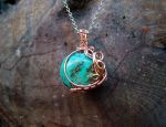 Turquoise wrapped in Copper by crystalpanther2