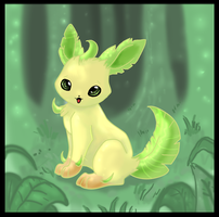 Leafeon by Kyuubreon