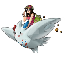 Loisa and her Togekiss by Sbi96