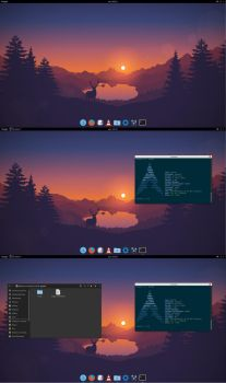 Flat Arch (Gnome 3) by hun7er92