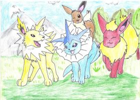 Eeveelution Friends Forever by jackstar93