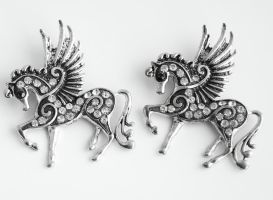 2 Pegasus Pendants FOR SALE by MonsterBrandCrafts