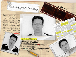 Suspect number 1 RDJ wall by Tiate