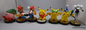 Second Set of Amiibos by ChibiSilverWings