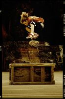 Kickflip over a box by janplexy