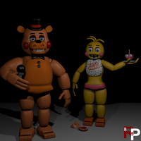 Toy Chica and Freddy by RedPanda85
