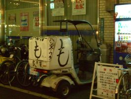 Japanese delivery scooter by Fantasmiki