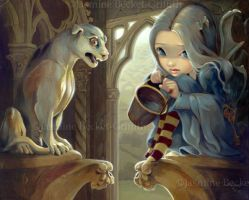 Alannah and the Gargoyle by jasminetoad