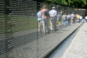 Vietnam Wall Reflections by Kippenwolf