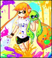 Splatoon - Inkling by YukiPyro
