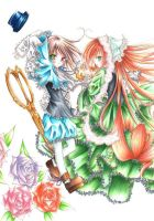Twins-coloured-Rozen Maiden by ayasemn