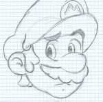 sketch : Mario by candygirl000