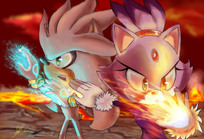 Silver and Blaze - We are together in this by JustASonicFan
