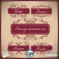 Romantic Vintage Banners Brushes by Romenig