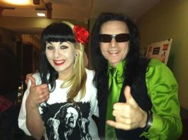 Tommy Wiseau and Jessica by vlaSINda