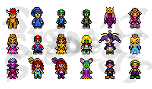 Mario-themed Sprites by SladeJT