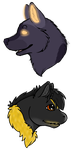 :GA: For Boodle and Direwolf by horselover0726