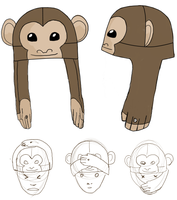 No Evil Monkey Hat by clearkid