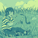 Joao and Manaphy  Colour Palette- Cool Sunsets by ChibiSo