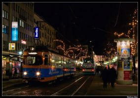 All the glowing lights by TramwayPhotography