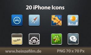 20 iPhone Icon Alternatives by Heinzefilm