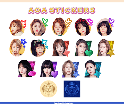 |AOA STICKERS| by fxrst-love