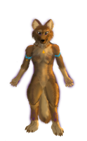Female Anthro Wolf by Jojelord