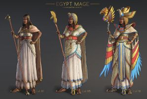 Egypt Mage by rainerpetterart