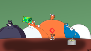 Chris Clone Eating Contest by Tails230