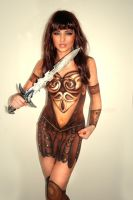 The Warrior Body Painting by artistry-and-imagery