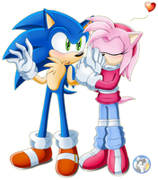 .:Sonic and Amy:. by Blacky-Doll