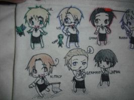 APH doodle bag_Waiters colored by KirakoRora