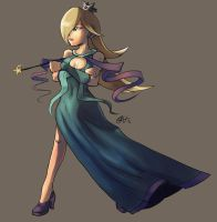 Rosalina from Mario Galaxy by lord-phillock