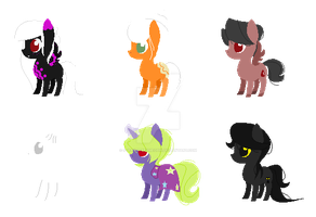 Cheap Halloween Themed Foal Adopts {CLOSED: 0/6} by strawberrymeopin
