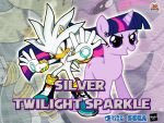 Wallpaper Silver the Hedgehog and Twilight Sparkle by LightDegel