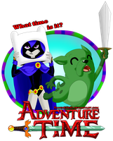Raven and Beast Boy - Adventure Time by RavenEvert