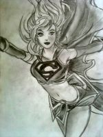 Supergirl quick sketch by sorrowofdestiny