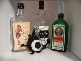 booze bottles and patapon by ElizzaBeast