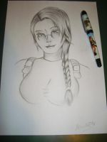 Lara Croft Sketch by 7marichan7