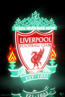 Illuminated Liverpool logo. by kitster29