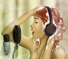 Singing in the Shower by harvestmoonluvr