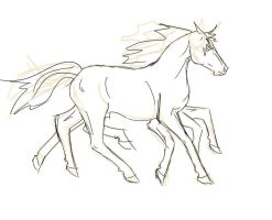 sleipnir sketchline for sara by frenchly